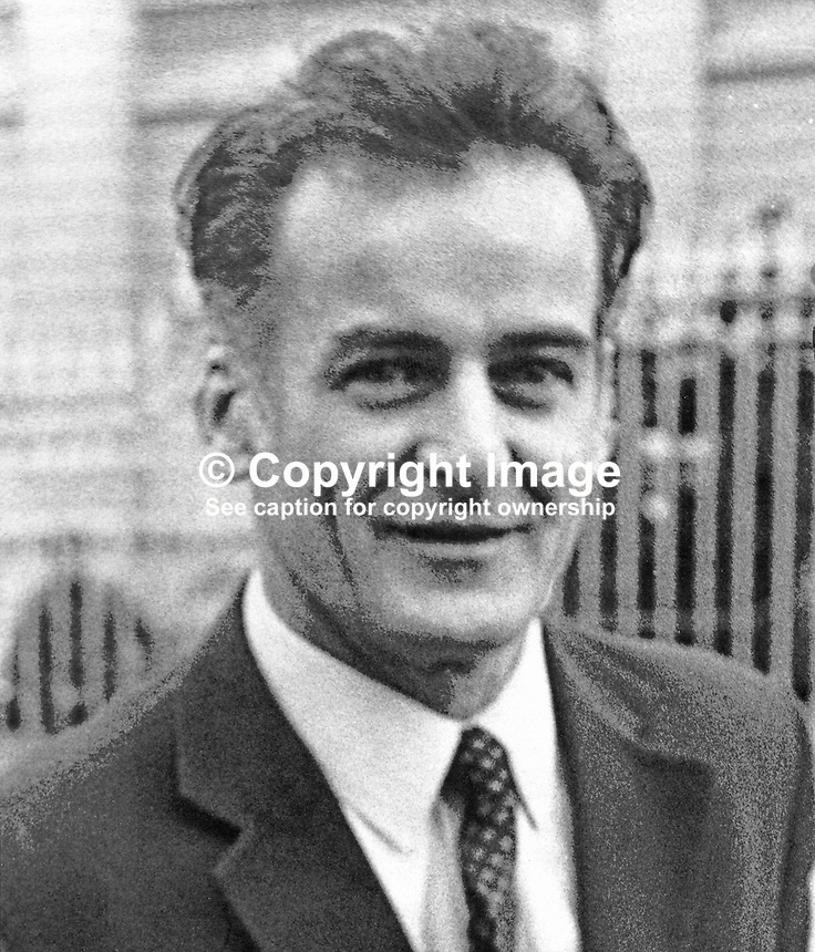 Frank Gogarty, prominent member, N Ireland Civil Rights Association. 1972101701FG1.<br />