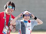 (R-L) Yukie Nakayama, Hiroyasu Nagashima (JPN),<br /> AUGUST 7, 2016 - Shooting :<br /> Women's Trap Qualification at Olympic Shooting Centre during the Rio 2016 Olympic Games in Rio de Janeiro, Brazil. (Photo by Enrico Calderoni/AFLO SPORT)