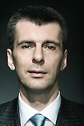 Russian billionaire and Presidential candidate Mikhail Prokhorov.