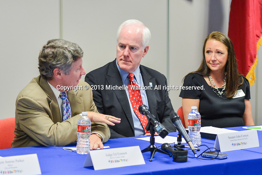 The Children's Assessment Center Press Conference with Senator John Cornyn and Mayor Annise Parker