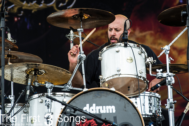 Pepe Clarke of Kyng performs during the 2014 Rock On The Range festival at Columbus Crew Stadium in Columbus, Ohio.
