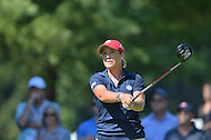 Owings Mills, MD - July 26, 2014: Christie Kerr, of Team USA, tees off on the 10th hole during Round 3 of four-ball competition at the LPGA International Crown at the Caves Valley Golf Club in Owings Mills, MD on July 26, 2014. 32 players from twelve countries competed in this inaugural tournament.  (Photo by Don Baxter/Media Images International)