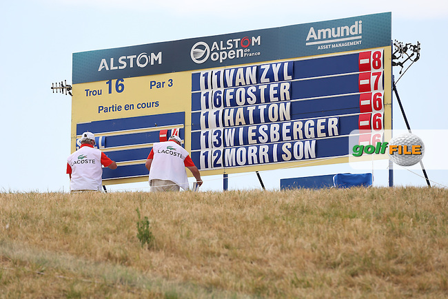 Jaco Van Zyl (RSA) has the edge of the field during Round Three of the 2015 Alstom Open de France, played at Le Golf National, Saint-Quentin-En-Yvelines, Paris, France. /04/07/2015/. Picture: Golffile | David Lloyd<br /> <br /> All photos usage must carry mandatory copyright credit (&copy; Golffile | David Lloyd)