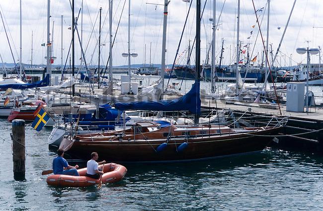 Jachthafen, Hafen, Marina, Yacht-Harbour of Sassnitz, Insel Rügen, Rügen Island, Baltic Sea, Ostsee, Mecklenburg-Vorpommern, Deutschland, Germany