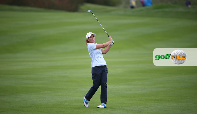 Gwladys Nocera (FRA) during Friday afternoon's Four-balls, at The Solheim Cup 2015 played at Golf Club St. Leon-Rot, Mannheim, Germany.  18/09/2015. Picture: Golffile | David Lloyd<br /> <br /> All photos usage must carry mandatory copyright credit (&copy; Golffile | David Lloyd)
