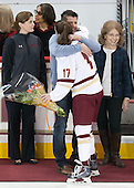 Allison Quandt (BC - Assistant Coach), Chad Grieves, Meghan Grieves (BC - 17), ? - The Boston College Eagles defeated the visiting Providence College Friars 7-1 on Friday, February 19, 2016, at Kelley Rink in Conte Forum in Boston, Massachusetts.