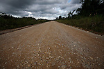BELIZE - SEPTEMBER 13, 2007:  The Southern Highway on September 13, 2007 in Belize.  (PHOTOGRAPH BY MICHAEL NAGLE)