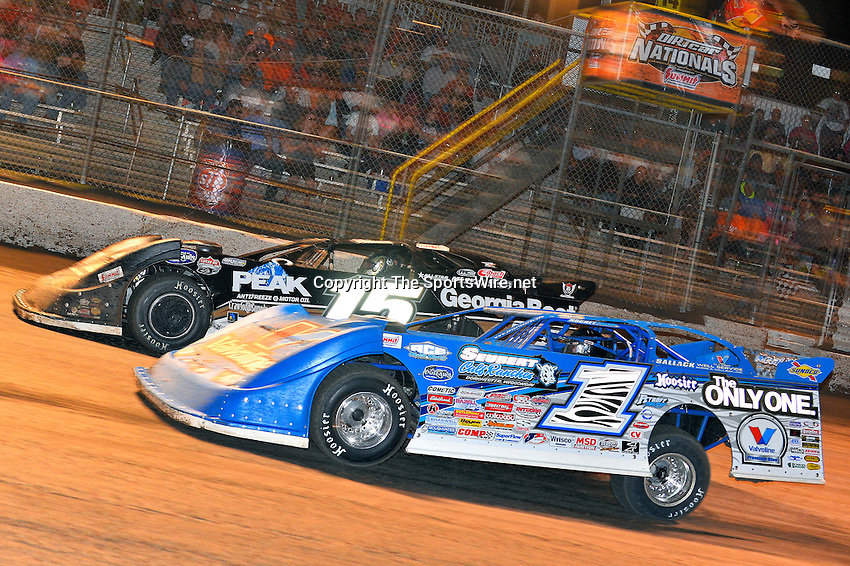 Feb 20, 2014; 9:44:26 PM;  Barberville, FL, USA;  World of Outlaws Late Model Series for 43rd Annual DIRTcar Nationals presented by Summit Racing Equipment at Volusia Speedway Park.  Mandatory Credit: (thesportswire.net)
