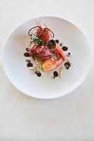 Europe/France/Bretagne/56/Morbihan/Billiers:  Homard de Casier, risotto de cèleri, jus de carapace en civet, recette de  Patrice Caillault du Domaine de Rochevilaine à la pointe de Pen-Lan