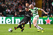 12th September 2017, Glasgow, Scotland; Champions League football, Glasgow Celtic versus Paris Saint Germain;  06 MARCO VERRATTI (psg) - and Scott Brown (cel)