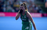 Ireland's Deirdre Duke emotional after her team getting into the final <br /> Photographer Hannah Fountain/CameraSport<br /> <br /> Vitality Hockey Women's World Cup - Ireland v Spain - Saturday 4th August 2018 - Lee Valley Hockey and Tennis Centre - Stratford<br /> <br /> World Copyright &copy; 2018 CameraSport. All rights reserved. 43 Linden Ave. Countesthorpe. Leicester. England. LE8 5PG - Tel: +44 (0) 116 277 4147 - admin@camerasport.com - www.camerasport.com