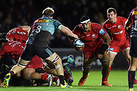 Will Skelton of Saracens in possession. Gallagher Premiership match, between Harlequins and Saracens on October 6, 2018 at the Twickenham Stoop in London, England. Photo by: Patrick Khachfe / JMP