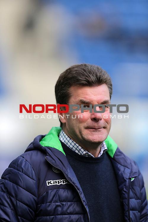 12.03.2016, Wirsol Rhein-Neckar-Arena, Sinsheim, GER, 1.FBL, TSG 1899 Hoffenheim vs VfL Wolfsburg<br /> Trainer Dieter Hecking (Wolfsburg)<br /> <br /> Foto &copy; nordphoto /  Bratic
