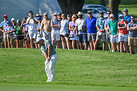 Francesco Molinari (ITA) hits his approach shot on 2 during round 3 of the 2019 Charles Schwab Challenge, Colonial Country Club, Ft. Worth, Texas,  USA. 5/25/2019.<br /> Picture: Golffile | Ken Murray<br /> <br /> All photo usage must carry mandatory copyright credit (© Golffile | Ken Murray)