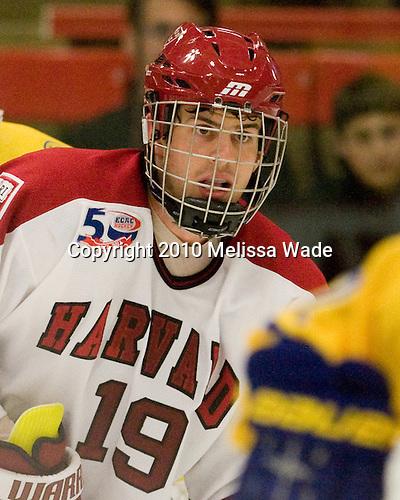 Alex Killorn (Harvard - 19) - Sweden's Under-20 team defeated the Harvard University Crimson 2-1 on Monday, November 1, 2010, at Bright Hockey Center in Cambridge, Massachusetts.