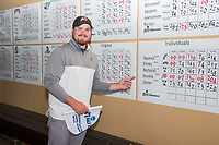 STANFORD, CA -- May 15, 2019. Kyler Dunkle of University of Utah wins individual after Round 3 of the NCAA Regionals at Stanford University Golf Course.