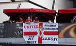 Manchester United fans with a banner against terrorism during the UEFA Europa League Final match at the Friends Arena, Stockholm. Picture date: May 24th, 2017.Picture credit should read: Matt McNulty/Sportimage