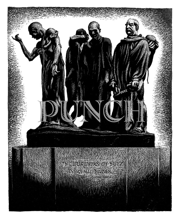 The Burghers of Suez by Gamal Nassar after Rodin