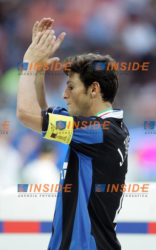 Javier Zanetti (Inter) <br /> Italy &quot;Tim Cup&quot; 2006-07 - Coppa Italia<br /> 17 May 2007 (Final 2st Leg)<br /> Inter-Roma (2-1) (a.r. 2-6)<br /> &quot;Giuseppe Meazza&quot; Stadium-Milano-Italy<br /> Photographer Andrea Staccioli INSIDE