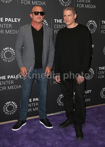 "29 March 2017 - Beverly Hills, California - Dominic Purcell, Wentworth Miller. 2017 PaleyLive LA Spring Season - ""Prison Break"" Screening And Conversation held at The Paley Center for Media. Photo Credit: AdMedia"