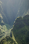Canyon cliffs on the Na Pali Coast, Kauai, Hawaii