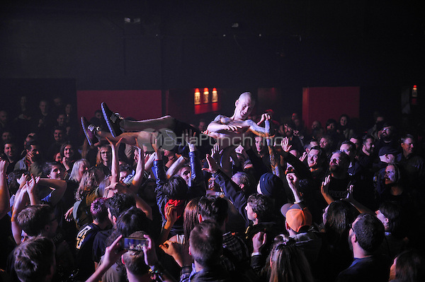 LONDON, ENGLAND - DECEMBER 5: Kjetil Gjermundrød of 'Kvelertak' performing at Electric Ballroom , Camden on December 5, 2016 in London, England.<br /> CAP/MAR<br /> ©MAR/Capital Pictures /MediaPunch ***NORTH AND SOUTH AMERICAS ONLY***