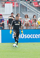 29 June 2013: Real Salt Lake goalkeeper Nick Rimando #18 in action during an MLS game between Real Salt Lake and Toronto FC at BMO Field in Toronto, Ontario Canada.<br /> Real Salt Lake won 1-0.