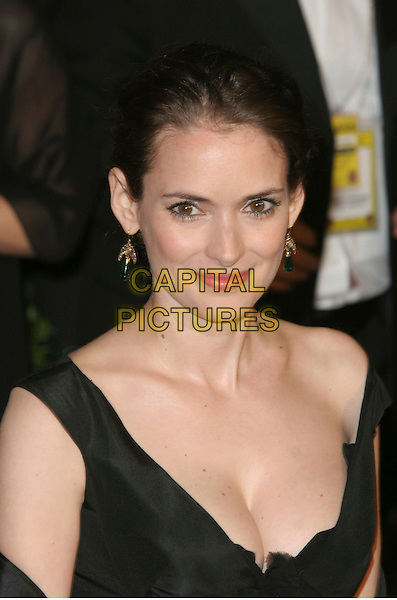 WINONA RYDER.2006 Vanity Fair Oscar Party held at Morton's, West Hollywood, California, USA.March 5th, 2006.Photo: Charles Harris/AdMedia/Capital Pictures.Ref: CH/ADM.headshot portrait cleavage.www.capitalpictures.com.sales@capitalpictures.com.© Capital Pictures.