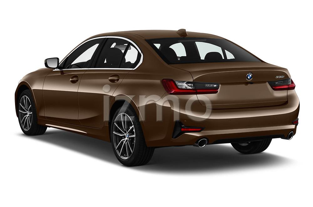 Car pictures of rear three quarter view of 2019 BMW 3-Series-Sedan 330i-Sport-Line 4 Door Sedan Angular Rear