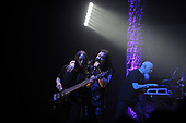 DREAM THEATER - L-R: John Myung,  James LaBrie, Jordan Rudess - performing live at the Eventim Apollo in Hammersmith London UK - 23 Apr 2017.  Photo credit: Zaine Lewis/IconicPix