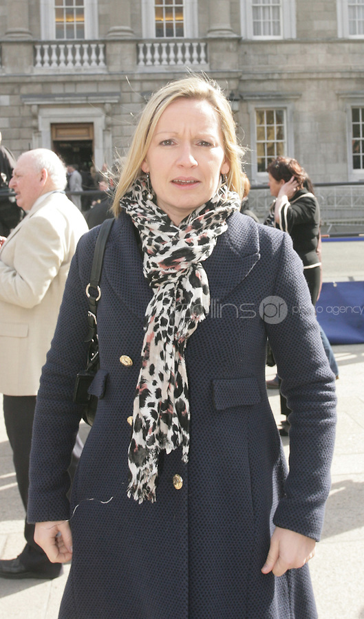 09/03/2011.Fine Gael Td Lucinda Creighton.during the 1st day of the 31st Dail.at Leinster House,  Dublin..Photo: Gareth Chaney Collins