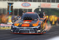 May 15, 2015; Commerce, GA, USA; NHRA funny car driver Alexis DeJoria during qualifying for the Southern Nationals at Atlanta Dragway. Mandatory Credit: Mark J. Rebilas-USA TODAY Sports