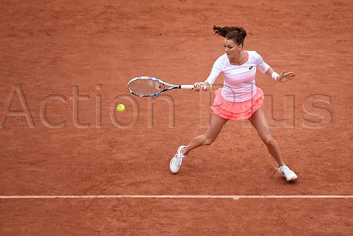 31.05.2016. Roalnd Garros, Paris, France. French Open tennis tournament. Agnieszka Radwanska (POL) during her loss to Pironkova  in 3 sets