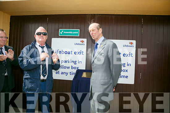 Prince Edward, Duke of Kent,  visited  the RNLI Lifeboat station in Fenit on Tuesday and unveiled a plaque with  Gerard O'Donnell (Lifeboat Operations Manager)
