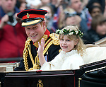 Royal Wedding.Bride and Groom.Harry and bridesmaid Lady Louise Windsor....Pic by Gavin Rodgers / Pixel.07917221968