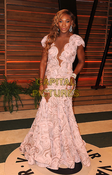 WEST HOLLYWOOD, CA - MARCH 2: Serena Williams arrives at the 2014 Vanity Fair Oscar Party in West Hollywood, California on March 2, 2014.  <br /> CAP/MPI/MPI213<br /> &copy;MPI213/MediaPunch/Capital Pictures
