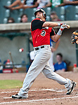 Grand Prairie AirHogs DH Joey Gomes (3) in action during the American Association of Independant Professional Baseball game between the Grand Prairie AirHogs and the Fort Worth Cats at the historic LaGrave Baseball Field in Fort Worth, Tx. Fort Worth defeats Grand Prairie 8 to 7...