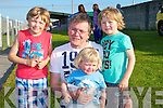 SUNSHINE: The sun shone on the Cantillon Boys  Rory,Oran,Colin and Mike,as they watched the Ballyheigue Summer Festival  Pig Races in  conjuction with the Ballyheigue Summer Festival, on Friday evening,
