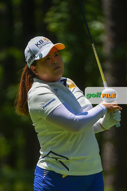 Inbee Park (KOR) watches her tee shot on 2 during round 1 of the U.S. Women's Open Championship, Shoal Creek Country Club, at Birmingham, Alabama, USA. 5/31/2018.<br /> Picture: Golffile | Ken Murray<br /> <br /> All photo usage must carry mandatory copyright credit (© Golffile | Ken Murray)