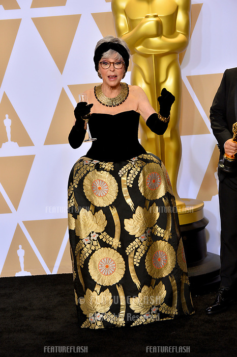 Rita Moreno at the 90th Academy Awards Awards at the Dolby Theartre, Hollywood, USA 04 March 2018<br /> Picture: Paul Smith/Featureflash/SilverHub 0208 004 5359 sales@silverhubmedia.com