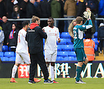 Liverpool's Jurgen Klopp celebrates at the final whistle with Christian Benteke<br /> <br /> - English Premier League - Crystal Palace vs Liverpool  - Selhurst Park - London - England - 6th March 2016 - Pic David Klein/Sportimage