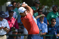 Patrick Reed (USA) watches his tee shot on 10 during round 1 of the 2019 Tour Championship, East Lake Golf Course, Atlanta, Georgia, USA. 8/22/2019.<br /> Picture Ken Murray / Golffile.ie<br /> <br /> All photo usage must carry mandatory copyright credit (© Golffile | Ken Murray)