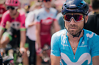 Alejandro Valverde (ESP/Movistar) post-race<br /> <br /> Stage 1: Noirmoutier-en-l'&Icirc;le &gt; Fontenay-le-Comte (189km)<br /> <br /> Le Grand D&eacute;part 2018<br /> 105th Tour de France 2018<br /> &copy;kramon