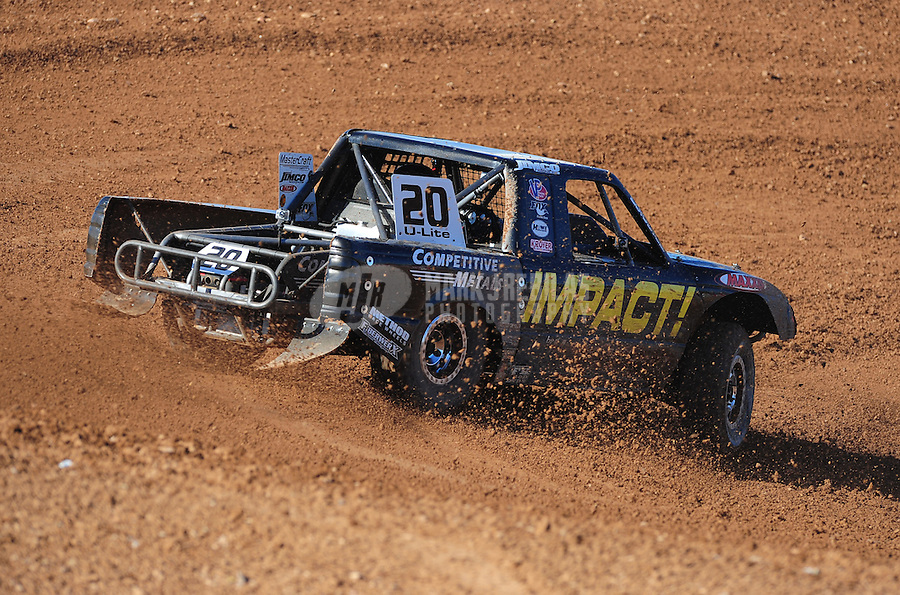 Apr 16, 2011; Surprise, AZ USA; LOORRS driver Matt Loiodice (20) during round 3 at Speedworld Off Road Park. Mandatory Credit: Mark J. Rebilas-.