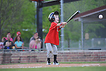 The Reds' Jacob Schultze vs. Indians in Oxford Park Commission coach pitch baseball at FNC Park in Oxford, Miss. on Monday, April 18, 2016.