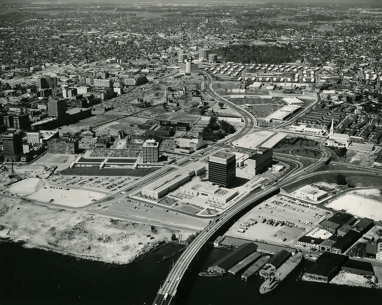 UNDATED...Aerial view.Downtown looking northwest from Berkley Bridge...NEG#.NRHA#..