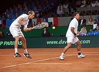 19-9-09, Netherlands,  Maastricht, Tennis, Daviscup Netherlands-France, Dubbles Thiemo de Bakker en Igor Sijsling