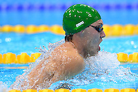 PICTURE BY ALEX BROADWAY /SWPIX.COM - 2012 London Paralympic Games - Day Ten - Swimming, Aquatic Centre, Olympic Park, London, England - 08/09/12 - Paul Kevin of South Africa competes in the Men's 100m Breaststroke SB9 Final.