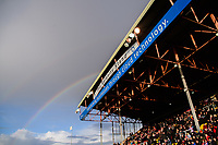 A rainbow appears over The Selenity Stand at Lincoln City's Sincil Bank Stadium prior to the game<br /> <br /> Photographer Chris Vaughan/CameraSport<br /> <br /> Emirates FA Cup First Round - Lincoln City v Northampton Town - Saturday 10th November 2018 - Sincil Bank - Lincoln<br />  <br /> World Copyright © 2018 CameraSport. All rights reserved. 43 Linden Ave. Countesthorpe. Leicester. England. LE8 5PG - Tel: +44 (0) 116 277 4147 - admin@camerasport.com - www.camerasport.com