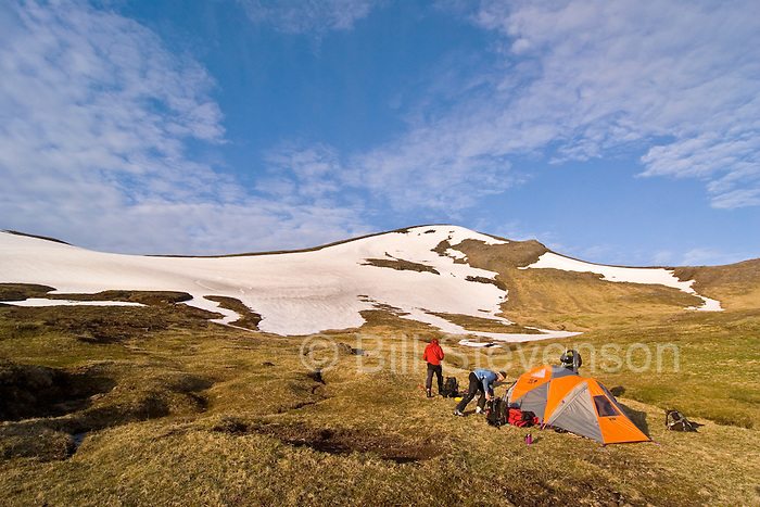 advanced basecamp on Umank island, aleutians